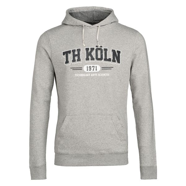 Classic Hooded Sweatshirt, heather grey, wisconsin