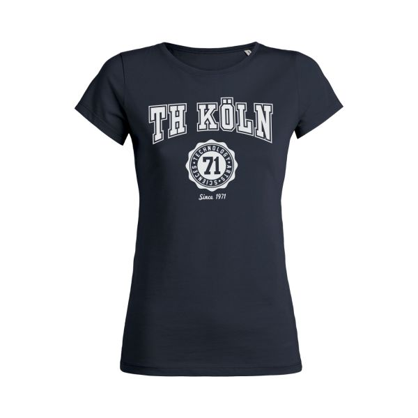 Damen Organic T-Shirt, navy, bellmont