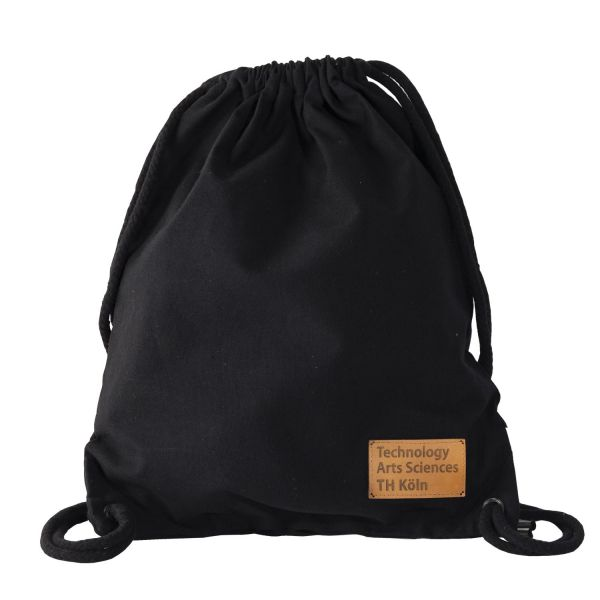 Organic Gym Bag, black, label